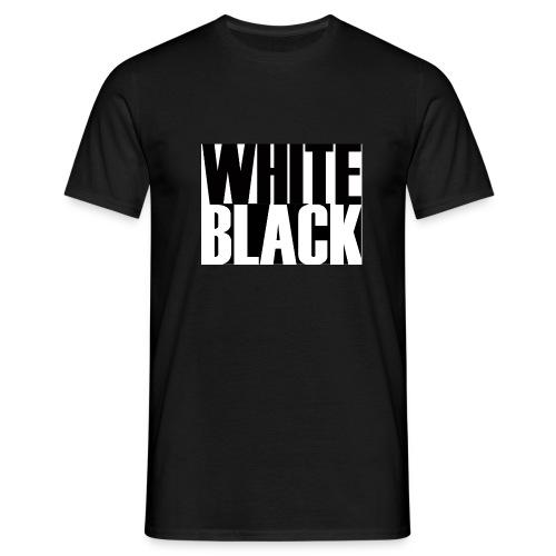 White, Black T-shirt - Mannen T-shirt