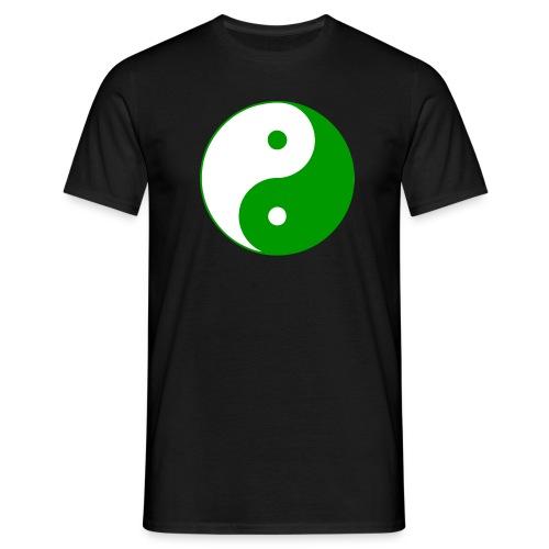 Yin Yang grün weiß - Männer T-Shirt