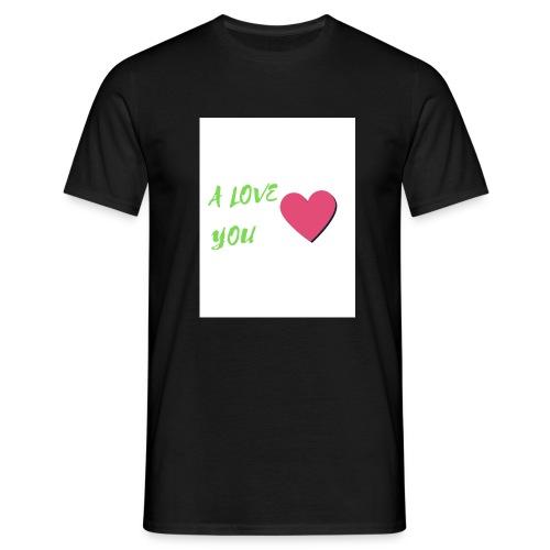 A LOVE YOU VERT - T-shirt Homme