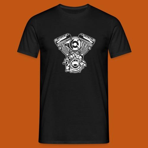 Motorrad Motor / Engine 01_weiß - Männer T-Shirt