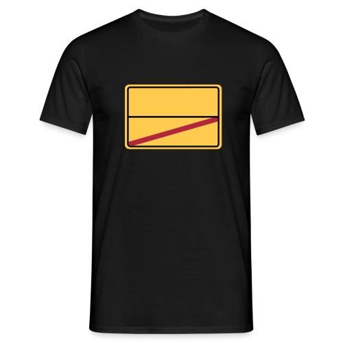 Ortsschild Ende - blanko - Männer T-Shirt