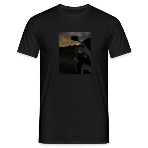 mørk motorsykkel - T-skjorte for menn