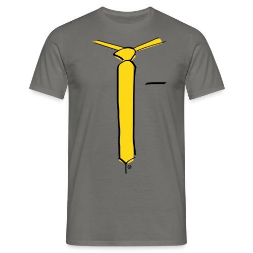 Comic Tie - Männer T-Shirt