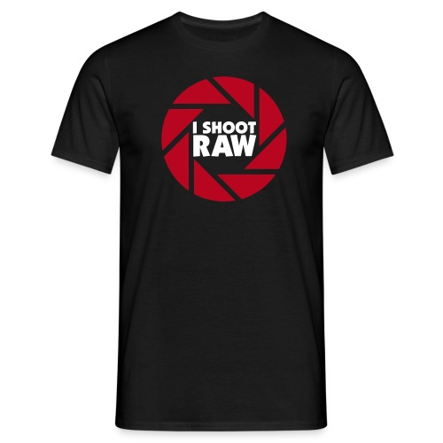 I shoot RAW - weiß - Männer T-Shirt