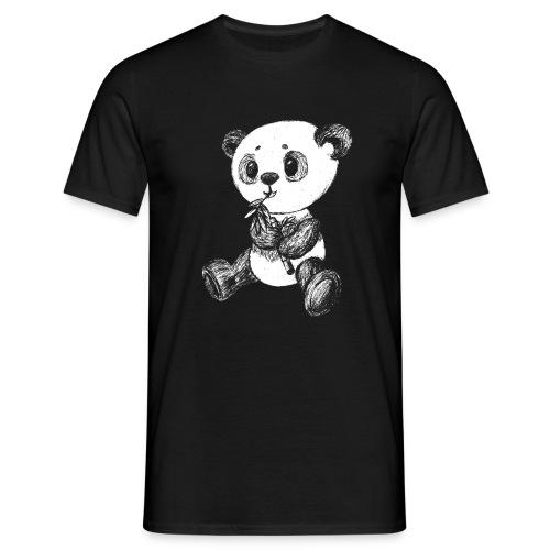 Panda bjørn hvid scribblesirii - Herre-T-shirt