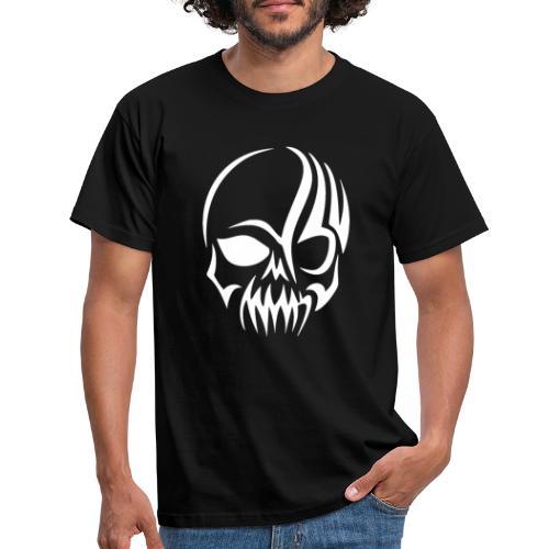 Tribal Skull white mit Logo - Männer T-Shirt