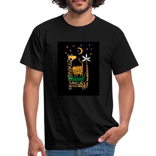 animals at night - Men's T-Shirt