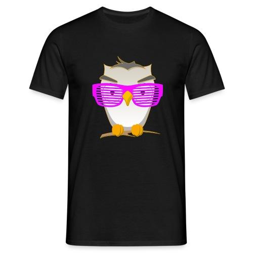 Eule Wald Vogel coole Nerdbrille Geek Big Bang Uhu - Men's T-Shirt