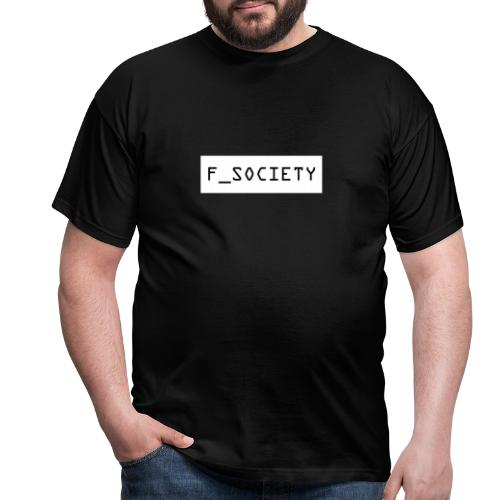 F_society big white - Men's T-Shirt