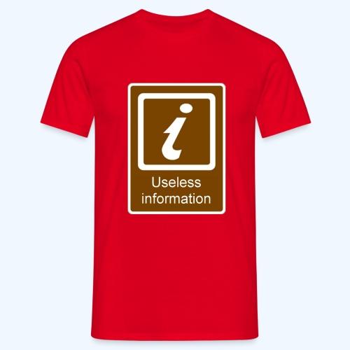 Useless Information Large - Men's T-Shirt