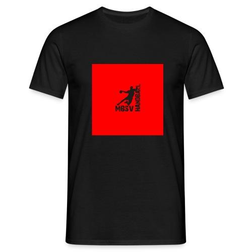 Rot mit Handballer - Männer T-Shirt