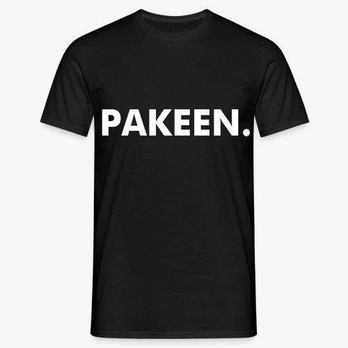 PAKEEN. Zwart - Mannen T-shirt