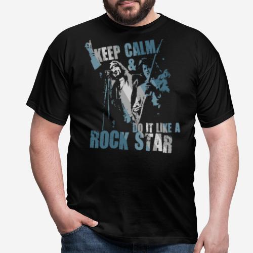 keep calm rock star - Männer T-Shirt