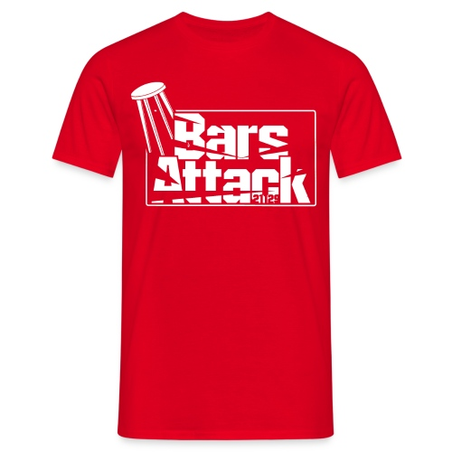 BarsAttack White Logo - Männer T-Shirt