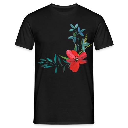 hand painted flower - Männer T-Shirt
