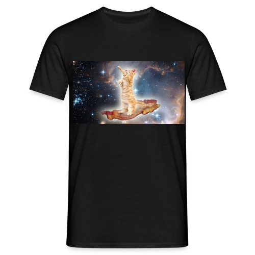 Space Cat On a Piece O' Bacon - Men's T-Shirt