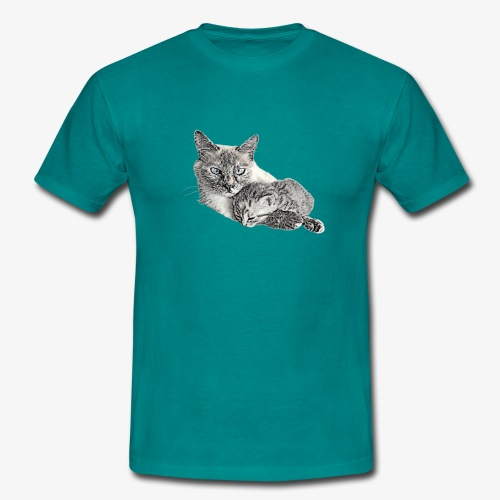 Snow and her baby - Men's T-Shirt