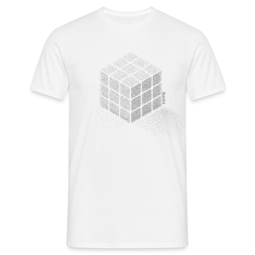 Rubik's Cube Stippling Dotted Cube - Men's T-Shirt