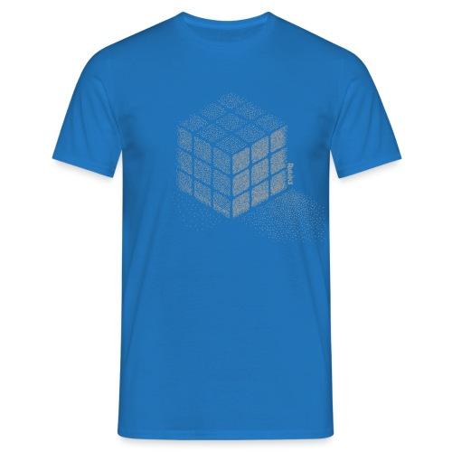 Rubik's Cube Stippling Dotted Cube - Men's T-Shirt