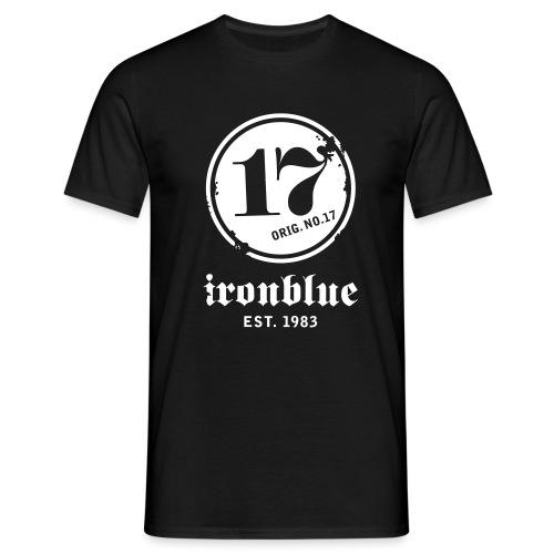 ironblue est schrift auss neg 1 - Männer T-Shirt