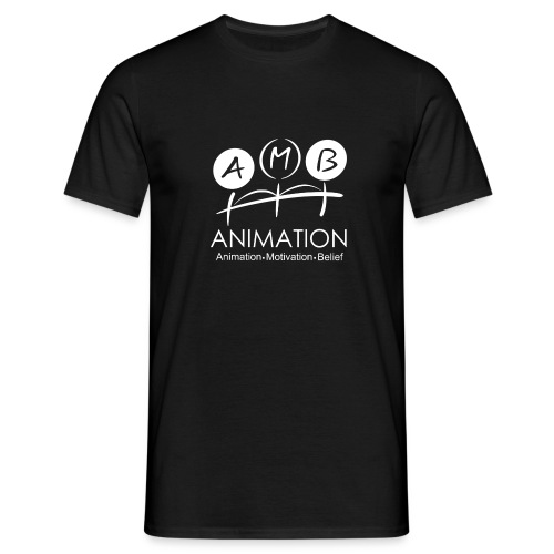 AMB Logo Animation Motivation Belief - Men's T-Shirt