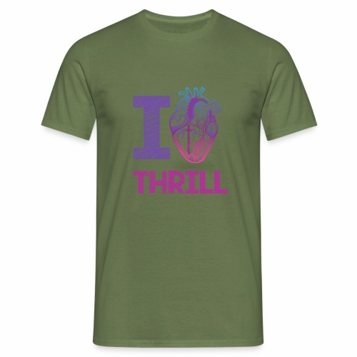 I love Thrill Logo - ParkTube - Männer T-Shirt