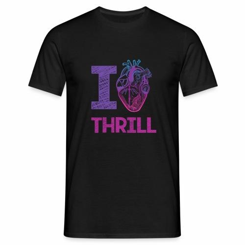 I love Thrill Logo - ParkTube - Männer T-Shirt