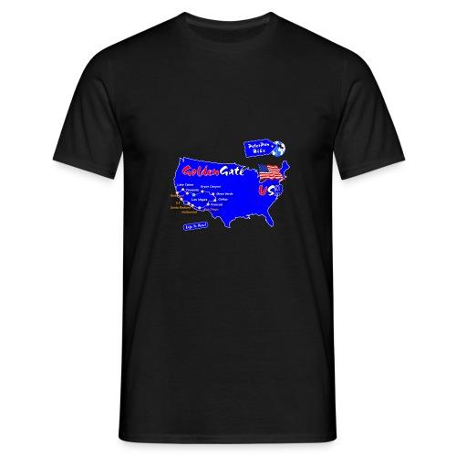 GoldenGate-01 - Miesten t-paita