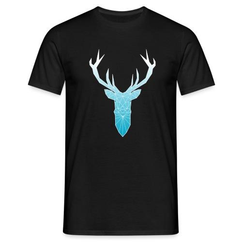 Hirschkopf mit Geweih - hellblau - Männer T-Shirt