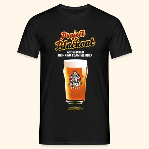 Drinking Shirt Project Blackout - Männer T-Shirt