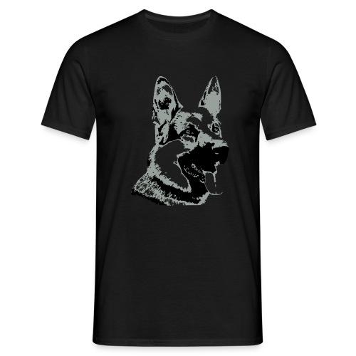 Dessin Chien Berger allemand 2 couleurs - T-shirt Homme