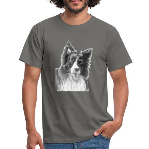 border collie 3 - Herre-T-shirt