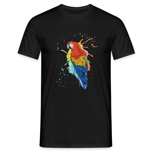 Parrot Watercolors Nadia Luongo - Maglietta da uomo