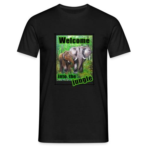 Willkommen im Dschungel - Männer T-Shirt
