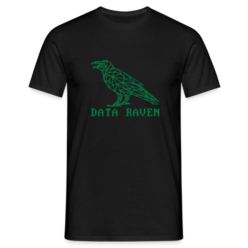 data raven outline txt - Men's T-Shirt