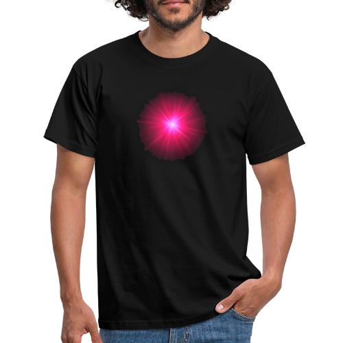 różowe promienie - Koszulka męska