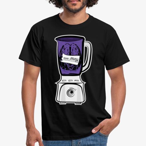 Hirn im Mixer_ lila - Männer T-Shirt