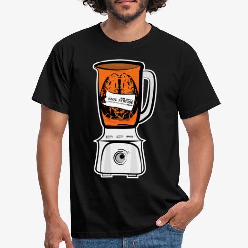 Hirn in Mixer neon orange - Männer T-Shirt