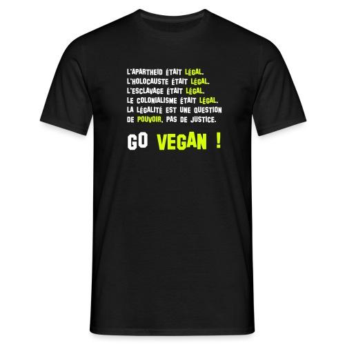 GO VEGAN - T-shirt Homme