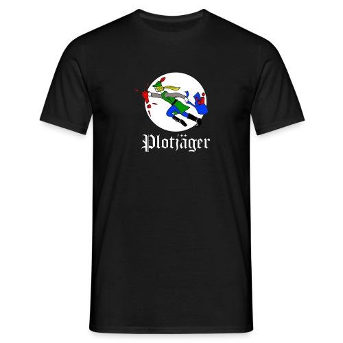 Plotjäger (weiße Schrift) - Männer T-Shirt