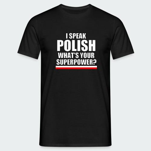 Męska Koszulka Premium I SPEAK POLISH - Koszulka męska