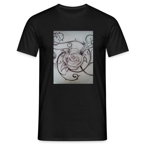 Tattoo Rose - Miesten t-paita