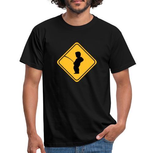 Manneken Pis sign - T-shirt Homme