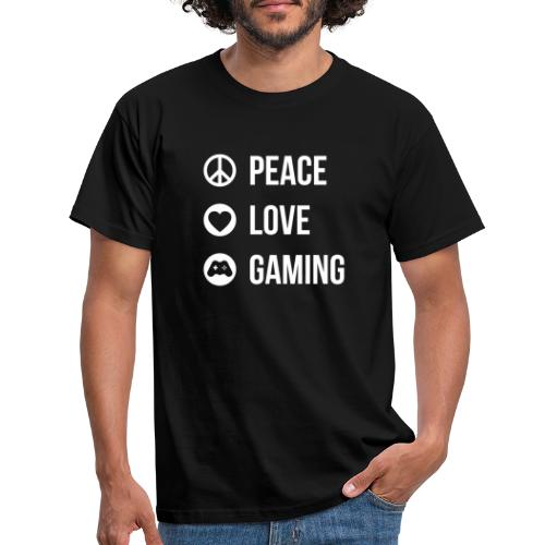 Peace Love Gaming T-Shirt - Männer T-Shirt