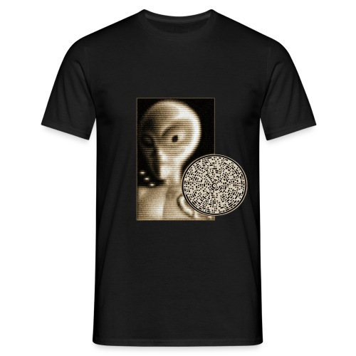 Grey alien message - T-shirt Homme