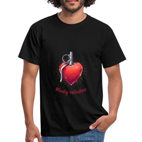 Bloody Valentine Design - Valentinstag Geschenk - Männer T-Shirt