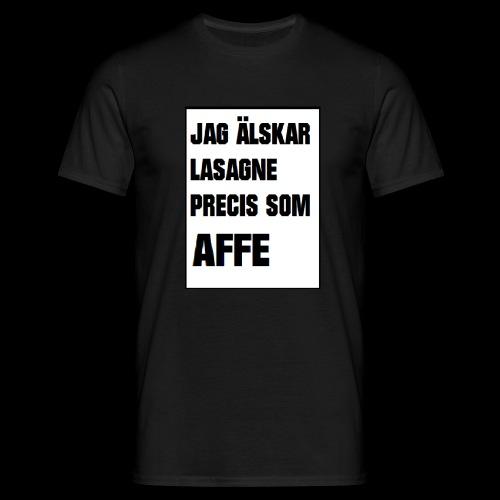 Affe älskar lasagne - T-shirt herr