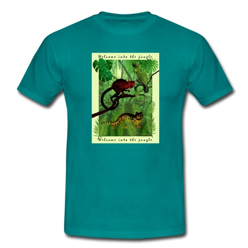 Tiere im Dschungel - Männer T-Shirt