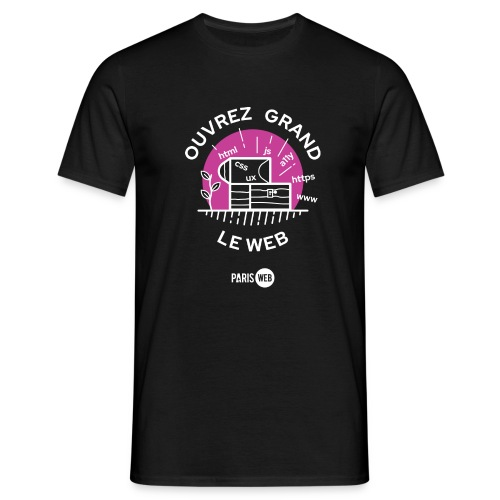 Ouvrez grand le web - T-shirt Homme