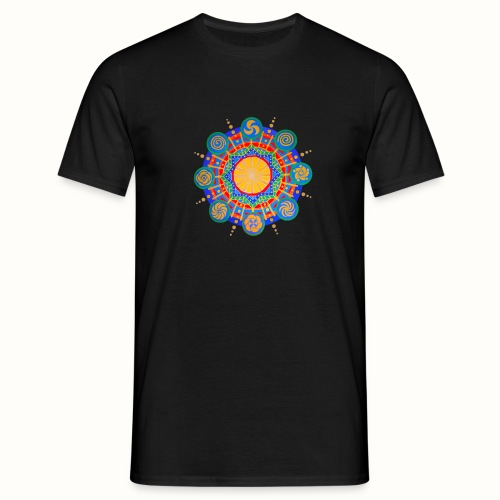 Crop Circle Mandala - Männer T-Shirt